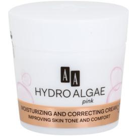 AA Cosmetics Hydro Algae Pink bőrszín egységesítő krém hidratáló hatással  50 ml