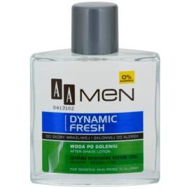 AA Cosmetics Men Dynamic Fresh frissítő borotválkozás utáni víz alkoholmentes  100 ml