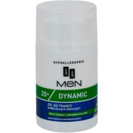 AA Cosmetics Men Dymanic 20+ mattító hidratáló gél  50 ml
