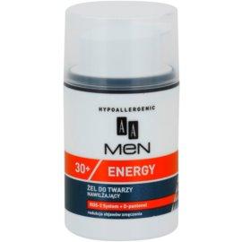 AA Cosmetics Men Energy 30+ хидратиращ гел за лице с освежаващ ефект  50 мл.