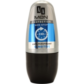 AA Cosmetics Men Sensitive antiperspirant roll-on bez parfumácie  50 ml