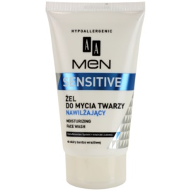 AA Cosmetics Men Sensitive Reinigungsgel  mit feuchtigkeitsspendender Wirkung  150 ml