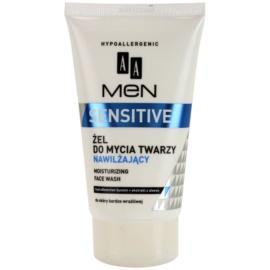 AA Cosmetics Men Sensitive čisticí gel s hydratačním účinkem  150 ml