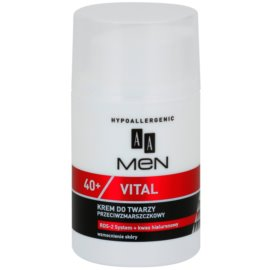 AA Cosmetics Men Vital 40+ creme facial antirrugas  50 ml