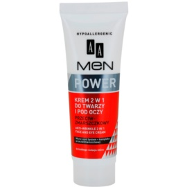 AA Cosmetics Men Power крем против бръчки 2 в 1 за зоната на лицето и очите  50 мл.