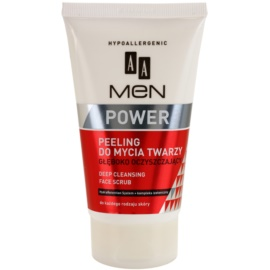 AA Cosmetics Men Power gel esfoliante de limpeza profunda  150 ml