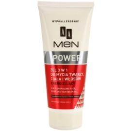 AA Cosmetics Men Power gel de dus pentru față, corp și păr  200 ml