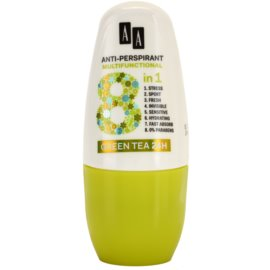 AA Cosmetics Multifunctional Green Tea 24H Antitranspirant-Deoroller 8 in 1  50 ml