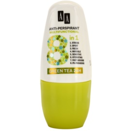 AA Cosmetics Multifunctional Green Tea 24H antiperspirant roll-on 8 v 1  50 ml