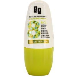 AA Cosmetics Multifunctional Green Tea 24H Antitranspirant-Deoroller 8 in 1  50 ml