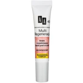 AA Cosmetics Age Technology Multi Regeneration rozjasňující krém proti tmavým kruhům pod očima 40+  15 ml