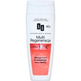 AA Cosmetics Age Technology Multi Regeneration szemfestéklemosó tej arcra és szemre 40+  200 ml