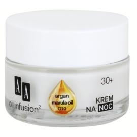 AA Cosmetics Oil Infusion2 Argan Marula 30+ crème de nuit nourrissante effet anti-rides  50 ml