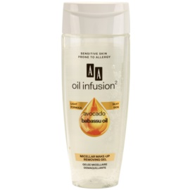 AA Cosmetics Oil Infusion2 Avocado Babassu gel démaquillant micellaire visage et yeux  200 ml