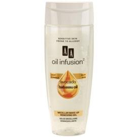 AA Cosmetics Oil Infusion2 Avocado Babassu mizellares Gel zum Abschminken für Gesicht und Augen  200 ml