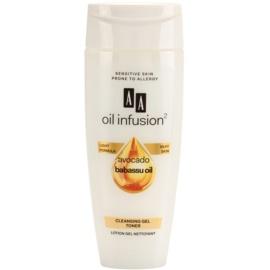 AA Cosmetics Oil Infusion2 Avocado Babassu gelové tonikum pro dokonalé vyčištění pleti  200 ml
