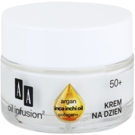 AA Cosmetics Oil Infusion2 Argan Inca Inchi 50+ Lifting Day Cream with Anti-Wrinkle Effect  50 ml