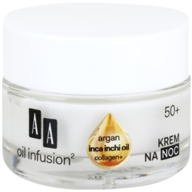 AA Cosmetics Oil Infusion2 Argan Inca Inchi 50+ Regenerating Night Cream With Remodelling Effectiveness  50 ml