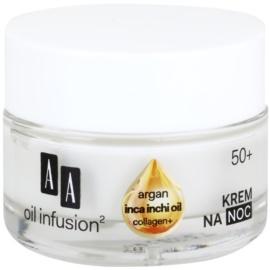 AA Cosmetics Oil Infusion2 Argan Inca Inchi 50+ Herstellende Nachtcrème  met Remodelling Effectiviteit   50 ml
