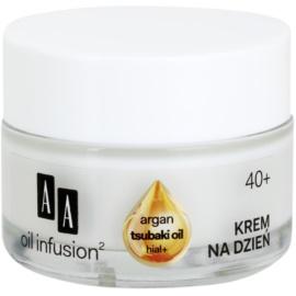 AA Cosmetics Oil Infusion2 Argan Tsubaki 40+ crème de jour raffermissante effet anti-rides Hial+ 50 ml