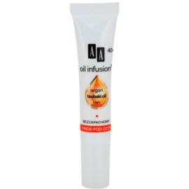 AA Cosmetics Oil Infusion2 Argan Tsubaki 40+ odżywczy krem pod oczy redukujący zmarszczki Hial+ 15 ml