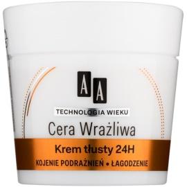AA Cosmetics Age Technology Sensitive Skin nyugtató és regeneráló krém normál és száraz bőrre  50 ml