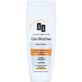 AA Cosmetics Age Technology Sensitive Skin lait démaquillant doux  200 ml