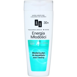 AA Cosmetics Age Technology Youthful Vitality mizellarwasser zum Abschminken 30+  200 ml