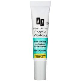 AA Cosmetics Age Technology Youthful Vitality hydratační a vyhlazující oční krém 30+  15 ml
