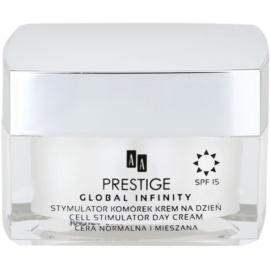 AA Prestige Global Infinity stimulující a posilující denní krém SPF 15  50 ml