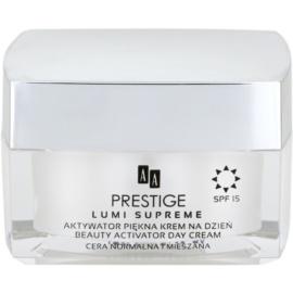 AA Prestige Lumi Supreme aktivní vyhlazující krém pro sjednocení tónu pleti SPF15  50 ml