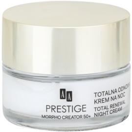 AA Prestige Morpho Creator 50+ intensywny krem na noc do przywrócenia jędrności skóry twarzy  50 ml