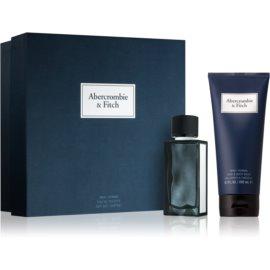 Abercrombie & Fitch First Instinct Blue darilni set I. (za moške) toaletna voda 50 ml + šampon in gel za prhanje 200 ml