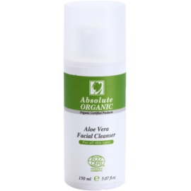 Absolute Organic Aloe Vera čisticí gel pro všechny typy pleti  150 ml