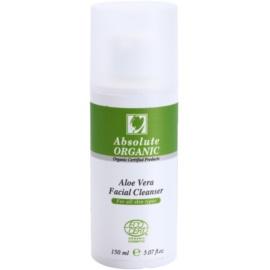 Absolute Organic Aloe Vera gel limpiador para todo tipo de pieles  150 ml