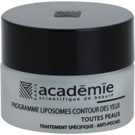 Academie All Skin Types gladilni gel za predel okoli oči proti oteklinam  15 ml