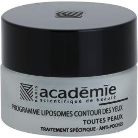 Academie All Skin Types розгладжуючий гель для шкіри навколо очей проти набряків  15 мл