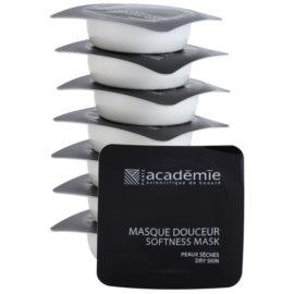 Academie Dry Skin výživná a zklidňující pleťová maska  8 x 10 ml