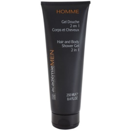 Academie Men gel za prhanje za telo in lase 2 v 1  250 ml