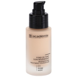 Academie Make-up Regenerating Liquid Foundation With Moisturizing Effect Shade 01 Ivory 30 ml