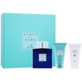 Acqua dell' Elba Blu Men ajándékszett III.  Eau de Toilette 100 ml + tusfürdő gél 50 ml + testápoló krém 50 ml
