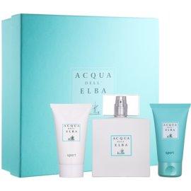 Acqua dell' Elba Sport ajándékszett IV.  Eau de Parfum 100 ml + arc- és testkrém 50 ml + testsampon 50 ml