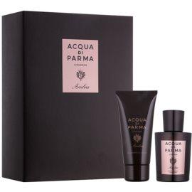Acqua di Parma Ambra darilni set I.  kolonjska voda 100 ml + gel za prhanje 75 ml
