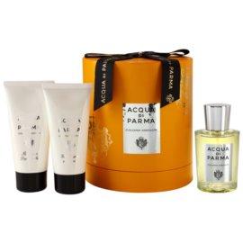Acqua di Parma Colonia Assoluta darilni set I. EDC + ASB + SWG kolonjska voda 100 ml + balzam za po britju 75 ml + gel za prhanje 75 ml