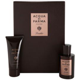 Acqua di Parma Colonia Leather dárková sada  kolínská voda 100 ml + sprchový gel 75 ml