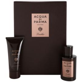 Acqua di Parma Colonia Leather darilni set  kolonjska voda 100 ml + gel za prhanje 75 ml