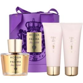Acqua di Parma Nobile Iris Nobile ajándékszett II.  Eau de Parfum 100 ml + testápoló krém 75 ml + tusfürdő gél 75 ml