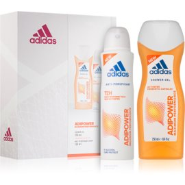 Adidas Adipower darilni set I.  gel za prhanje 250 ml + antiperspirant 150 ml