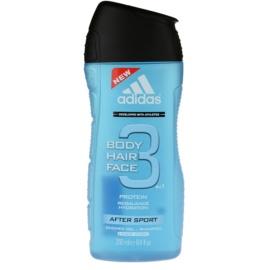 Adidas 3 After Sport żel pod prysznic dla mężczyzn 250 ml
