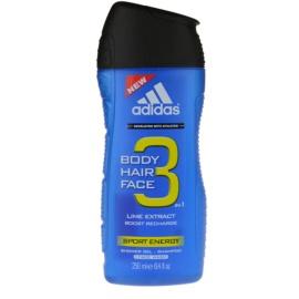 Adidas A3 Sport Energy tusfürdő férfiaknak 250 ml